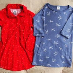 EUC LOT Old Navy Bird Sweatshirt Dress WORN ONCE